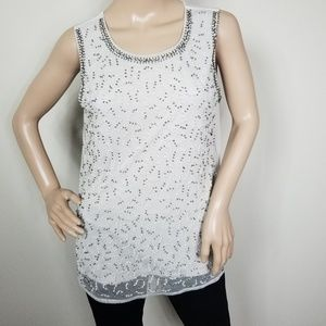 JENNIFER LOPEZ EMBELLISHED TANK TOP SIZE SMALL
